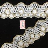 7cm 3 Pedales el ojal de fresado curvo de cinta de encaje para la decoración Hme895