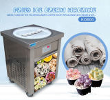 Koliceのセリウム50cmの単一の円形鍋によって揚げられているアイスクリーム機械