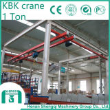 Type grue flexible de Kbk de grue de couverture totale d'atelier