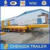 반 3axle 판매를 위한 새로운 60ton 낮은 침대 트럭 트레일러