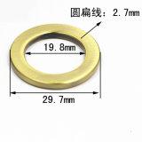 A curvatura redonda do anel da liga quente do zinco do metal da venda para o saco parte os acessórios dos bens do couro de sapatas da curvatura de correia (YK967)