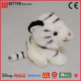 現実的なぬいぐるみの柔らかいおもちゃのプラシ天の白のトラ