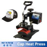 Prensa del calor de la impresión del traspaso térmico de la sublimación del sombrero del casquillo
