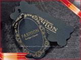Бирка бумаги черноты бирки Hang одежды с золотом напечатала