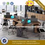 4 sièges directement la station de travail de bureau Bureau du personnel de la partition en cluster (HX-8N0224)
