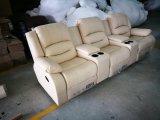 Sofà domestico del cuoio del cinematografo per il sofà moderno con il sofà del Recliner