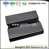 Perfil de alumínio de extrusão de alumínio para equipamento de áudio do carro radiador com a norma ISO9001