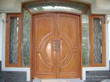 Porte d'entrée principale avant extérieure en verre ultra clair d'art avec le Sidelight