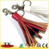 Caricatore di cuoio del USB delle nappe del cavo di dati con la catena chiave