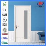 Porte en verre en bois intérieure de matériau de construction de chambre à coucher (JHK-G16)
