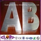 Publicidade em aço escovado letra LED ASSINAM CARTA DE CANAL DE METAL