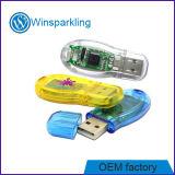 Memoria USB de plástico transparente de la Unidad de Memoria 16GB 8GB 4GB 2GB 1 GB