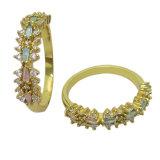 돌 (R10989)를 가진 최신 판매 형식 보석 숙녀 순은 반지