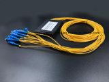 Оптоволоконный кабель Gpon телекоммуникационных 1X16 пластиковые окна PLC разветвителя с разъемом