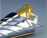 Новая усовершенствованная Настройка Pentagram Gold-Plated серебра Crystal ежегодные награды сотрудников трофей Crystal