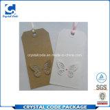 Etiqueta de papel impresa insignia ULTRAVIOLETA de encargo de la ropa