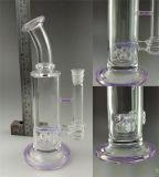 Venda por grosso de DAB de óleo do tubo de água de vidro recicladores Rig, fabrico grandes e de espessura do tubo de tabagismo de vidro em estoque