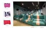 Presidenza del cinematografo della casa del sofà del Recliner del teatro di VIP con il sofà del cuoio della presidenza di film della carica del USB