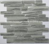 Bande grise Inkjet Mosaïque de verre glacé pour salle de bains