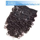 Закрепите удлинитель волос в бразильский волос человека