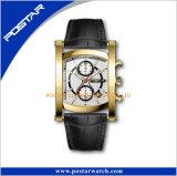Het unisex- Horloge van de Manier van het Leer voor de Nieuwe Juwelen van het Roestvrij staal van de Stijl