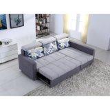 Petit sofa en forme de L de tissu avec la fonction de bâti de sofa