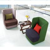 금속 기초를 가진 단 하나 Seater에 있는 고밀도 거품 직물 유형 통 의자