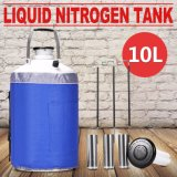 envase criogénico estático del tanque de almacenaje del nitrógeno líquido 10L con las correas con Ce