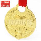 Liga de zinco personalizada exclusiva barata Antique Metal cobre latão Bronze medalha de adjudicação de inserção em branco de galvanização para o desporto