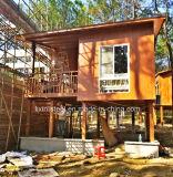 プレハブサンドイッチパネルの鉄骨構造フレームのポータブルの家