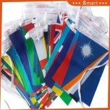 Chaîne de polyester de 50 pays d'un drapeau pour la Russie Coupe du Monde