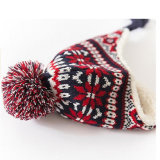 帽子のアクリルのEarflapの耳の折り返しの冬の帽子のニットの帽子