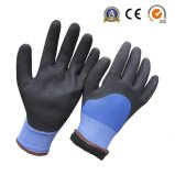 絶縁された二重はさみ金によって塗られるサンディのニトリルの柔らかい冬作業手袋