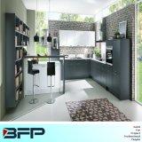 簡単な形式様式の台所家具の灰色の混合された白いカラー木製の食器棚Blk46