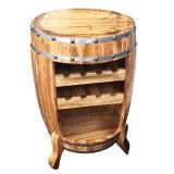 Lijst van het Rek van de Wijn van het Vat van het Meubilair van de staaf de Houten met 3 Stoelen