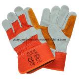 Отрежьте упорные перчатки руки Split кожи коровы безопасности защитные работая