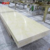 Pedra artificial 6mm da superfície sólida do painel de resina translúcida