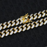 il micro di 12mm CZ pavimenta la catena a maglia cubana fuori ghiacciata la CZ degli uomini Mjcn062
