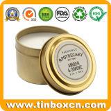 여행을%s 둥근 금속 향수 기름 초 주석 포장 상자