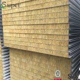 絶縁体のRockwoolサンドイッチパネル屋根か壁が付いている耐火性材料