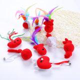 ペットプラシ天のおもちゃのプラスチック棒猫のおもちゃ