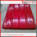 Farbe beschichtetes galvanisiertes gewölbtes Stahlblech mit Ral Farbe