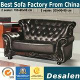 Sofa classique neuf de cuir véritable pour le bureau (F073)