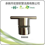 Punho do chuveiro do metal da liga do zinco para os mercadorias sanitários de vidro do chuveiro