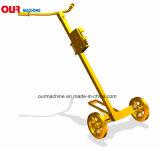 Stahl 450kg und manueller Trommel-Plastikträger mit PU-Rad De450c