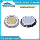 316 indicatore luminoso subacqueo della piscina dell'acciaio inossidabile IP68 LED
