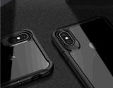 Ipkayの装甲シリコーン柔らかいTPUの豊富なフレーム+アクリルの装甲Iphonexのための透過背部電話箱
