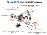 5-ejes de aluminio tipo suizo automático de la máquina de torno CNC de precisión