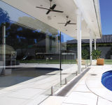 ステンレス鋼316のプールのガラス手すりのFramelessのガラス柵