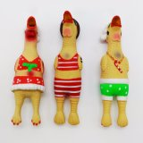 Weihnachtshuhn-Latex verfolgt Spielwaren mit Squeakers-Großhandelshaustier-Spielwaren-Haustier-Produkten